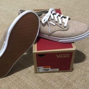 Van khaki tennis shoes